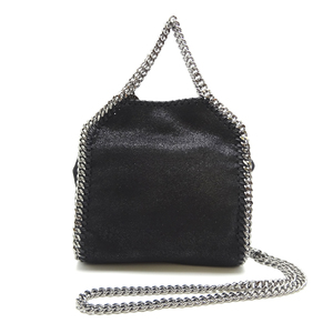 Stella McCartney Falabella Shoulder Bag Ladies 391698 Faux Leather Black DH56843