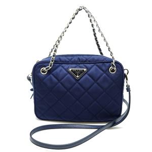Prada Test In Pratu TESSUTO IMPUNTURATO 2WAY Bag Ladies Handbag 1BH910 Saffiano Leather BALTICO Blue DH56846