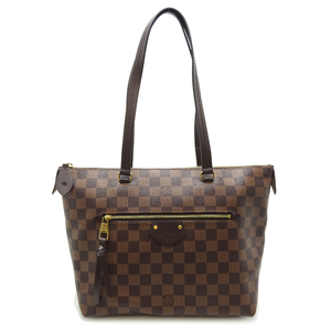 Louis Vuitton Jena PM Ladies Tote Bag N41012 Damier Canvas Ebene Brown DH56887