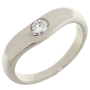 Bvlgari Corona Diamond Wedding Ladies Ring & Pt950 Platinum No. 8 Silver DH56804