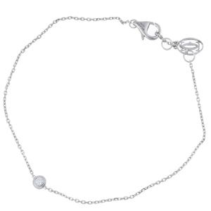 Cartier Diamant Légers de XS Diamond Ladies Bracelet B6045517 750 White Gold Silver DH56769