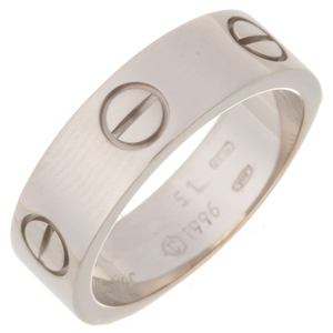 Cartier Love # 51 Ladies Ring & 750 White Gold No.11 Silver DH56966