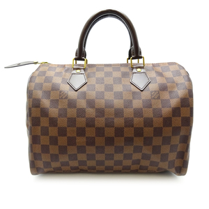 Louis Vuitton Speedy 30 Women's Men's Boston Bag N41531 Damier Canvas Evenu Brown DH56847