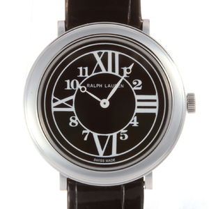 Ralph Lauren RL888 32mm Ladies Watch RLR0180704 Stainless Steel Black Arabic Roman Dial DH56692