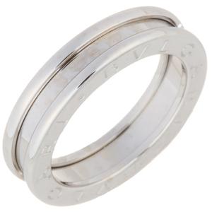Bvlgari Bezero One 1 Band XS # 51 Ladies Ring / 336015 750 White Gold No. 11 Silver DH56775