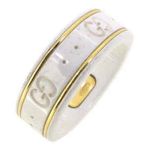 Gucci Icon Ladies Ring / 750 Yellow Gold No. 10 White DH56909