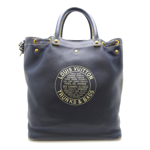 Louis Vuitton Shoe Bag Women's Men's Handbag M95149 Tobago Canvas Navy DH57036
