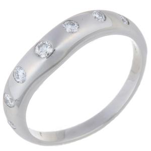 Bvlgari Corona Wedding 7P Diamond Ladies Ring & 347233 Pt950 Platinum 9 Silver DH56773