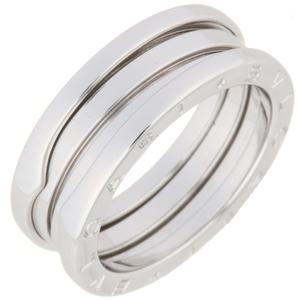 Bvlgari Bezero One # 57 Ladies Ring / 323530 750 White Gold No.17 Silver DH56757