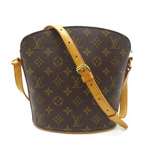 Louis Vuitton Drouot Women's Shoulder Bag M51290 Monogram Canvas Brown DH56889