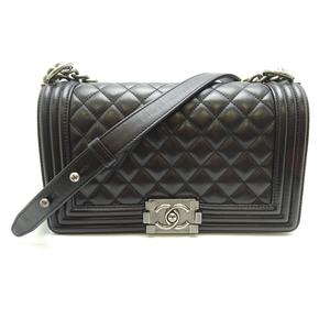 Chanel Boy Chain Shoulder Ladies Handbag Lambskin Black DH56854