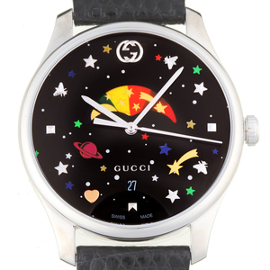 GUCCI G Timeless Moonphase Steel Ladies Mens Watch YA1264045 126.4