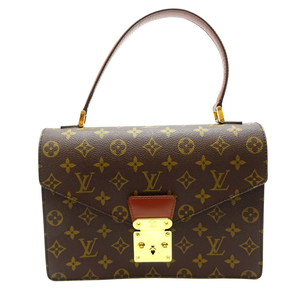 Louis Vuitton Concord Ladies Handbag M51190 Monogram Canvas Brown DH57061