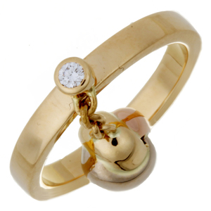 Cartier Baby Trinity Ball 1P Diamond # 50 Ladies Ring / B4064700 750 Yellow Gold No.10 DH56941