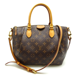 Louis Vuitton Turen PM Ladies Handbag M48813 Monogram Canvas Brown DH56992
