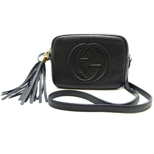 Gucci Soho Small Disco Bag Ladies Shoulder 308364 Leather Black DH57047