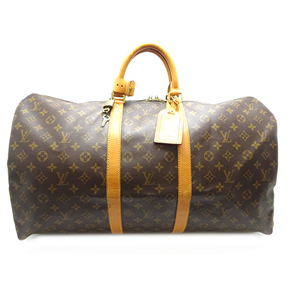 Louis Vuitton Keepall 55 Ladies Boston Bag M41424 Monogram Canvas Brown DH57071