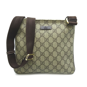 Gucci Messenger Bag Ladies Shoulder 201538 GG Supreme Canvas Beige x Brown DH57119