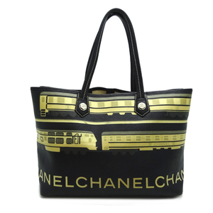 Chanel Central Station Tote Bag Ladies PVC Black Multi Color DH56614
