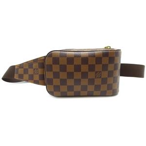 Louis Vuitton Jeronimos Women's Men's Shoulder Bag N51994 Damier Canvas Ebene Brown DH56999