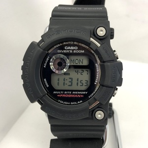 CASIO G-SHOCK Frogman ALL BLACK black digital tough solar rubber belt date Mens Watch GW-200