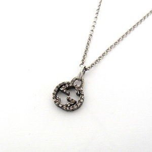 GUCCI Gucci Necklace Interlocking G Silver AG925 Starling Pendant Double Accessory Men Women Ladies 411346 RYB5840