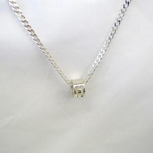 GUCCI Gucci Necklace Silver AG925 GG Canvas Logo Men's Women's Accessories 409398 RYB5776