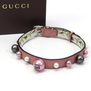 Gucci Angry Cat Faux Pearl Choker Pink 20200510
