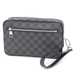 Louis Vuitton LOUIS VUITTON Pochette Casai Damier Graphite Black Gray N41664 Clutch Bag Second