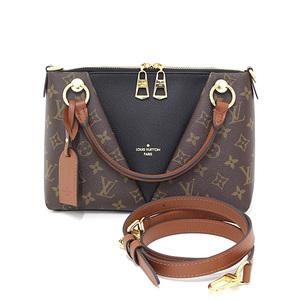 Louis Vuitton LOUIS VUITTON V Tote BB Monogram Noir Leather Brown Black M43976 2WAY Shoulder Bag