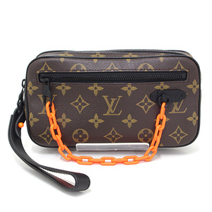 Louis Vuitton LOUIS VUITTON Pochette Volga Monogram Solar Ray Brown Black Orange M44482 Virgil Abloh