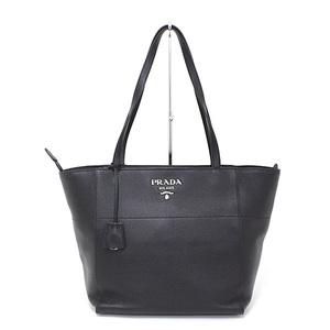 Prada PRADA leather tote bag black shoulder VITELLO PHENIX NERO 1BG202