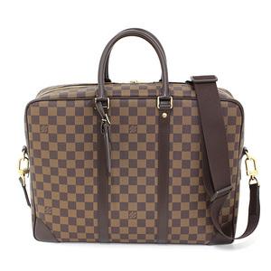 Louis Vuitton LOUIS VUITTON Porte Documan Voyage GM Damier Ebene N41122 Men's Shoulder Bag