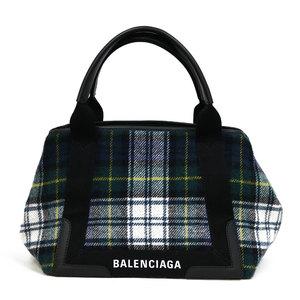 BALENCIAGA handbag navy hippo check pattern green ladies' men's
