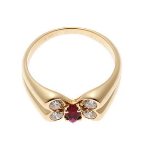Van Cleef & Arpels Celia Ruby Diamond Ring Yellow Gold 750YG 1820247
