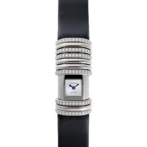 Cartier Declaration Diamond Quartz WT000450 Silver Dial 750WG TI 1910314