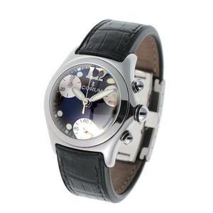 CORUM Colum bubble chronograph quartz 196.250.20 black silver dial SS 1810477