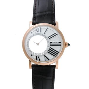 Cartier Rotondo de Mysterious hour watch Manual winding W1556223 Silver Dial 750PG 1820187