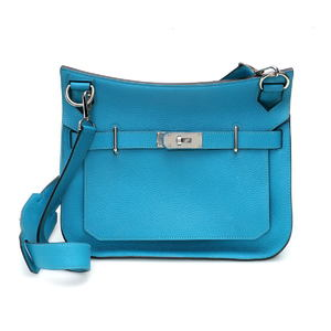 HERMES Hermes Gypsiere 31 R engraved shoulder bag 065830CK Turquoise Taurillon Clemence 1920163