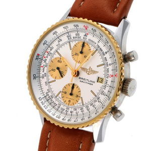 BREITLING Old Navitimer Automatic 81610 Silver Gold Dial SS 1920018