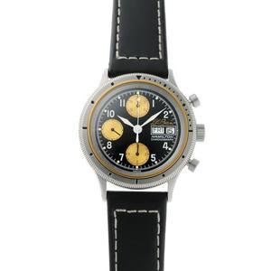 HAMILTON Hamilton L.L.Bean Chronograph Day Date Automatic 9446 Black Gold Dial SS 1910464