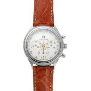 HAMILTON Hamilton Round Watch Chronograph Hand-wound Lemania 1873 White Dial SS 1910378