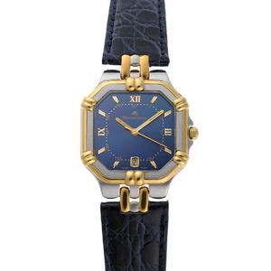 MAURICE LACROIX Maurice Lacroix Calypso Watch Quartz 95563 Blue Dial SS GP 1920092