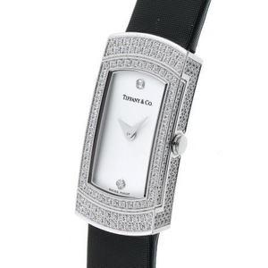 Tiffany Cocktail Watch Diamond Quartz Silver Dial 750WG 1810362