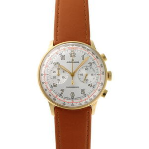 JUNGHANS Meister telemeter chronograph automatic 027 5382 silver dial GP 1910480