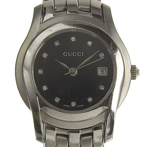 GUCCI Gucci 11P Diamond Ladies Quartz Watch Dial 5500L
