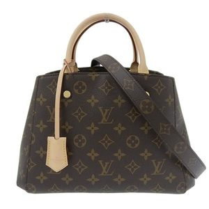 Genuine LOUIS VUITTON Louis Vuitton Monogram Montaigne BB 2WAY Handbag M41055 Leather