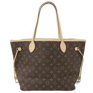 Genuine LOUIS VUITTON Louis Vuitton Monogram Neverfull MM Tote Bag Pivoine M41178 Leather