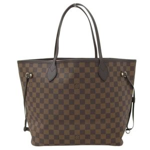 Genuine LOUIS VUITTON Louis Vuitton Damier Neverfull MM Tote Bag Rose Ballerine N41603 Leather