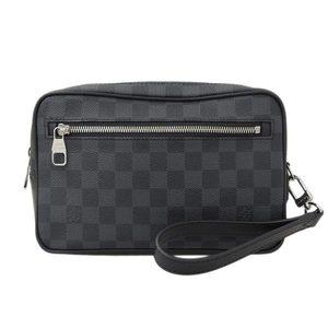 Genuine LOUIS VUITTON Louis Vuitton Graffiti Pochette Kasai Second Bag N41664 Leather
